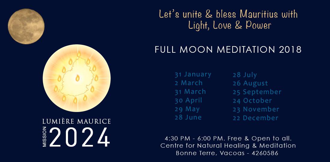 Fullmoon meditation - Pranic Healing Foundation, Mauritius